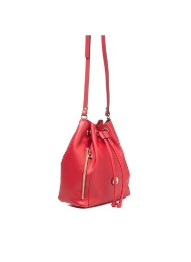 TH Bags TH Bags 2THCW2020208 Suni Deri Kadın Çapraz Çanta Kırmızı